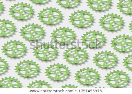 Pattern from floating paper clockworks on a white background with shadows. Stock photo © artjazz