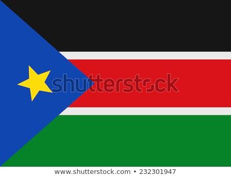 Zászló dél Szudán pólus integet szél Stock fotó © creisinger