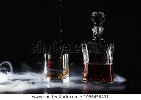 Scump coniac fotografie sticlă brandy antic Imagine de stoc © mastergarry