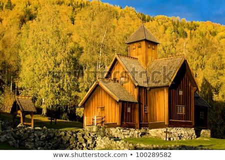 chiesa · Norvegia · costruzione · viaggio · architettura · città - foto d'archivio © phbcz