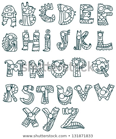 Joyful Cartoon font - from A to Z Stock photo © Elmiko