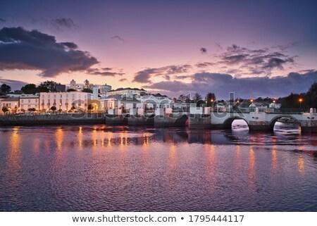 Stok fotoğraf: Portekiz · eski · şehir · gökyüzü · mavi · nehir