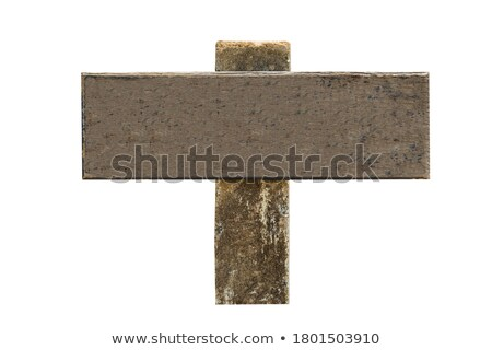 Old weathered noticeboard with blank space Stock photo © RTimages