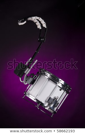 Stock photo: Marching Field Snare Drum on White