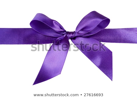 A box tied with a violet satin ribbon bow.  Stock photo © Massonforstock