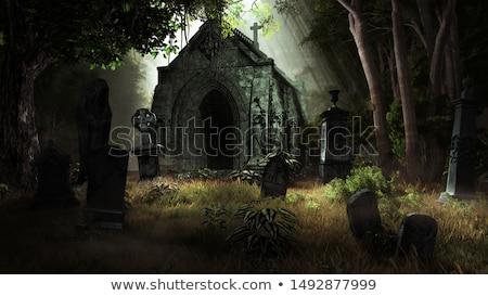 3D · świadczonych · scena · ciemne · architektury · zło - zdjęcia stock © Wampa