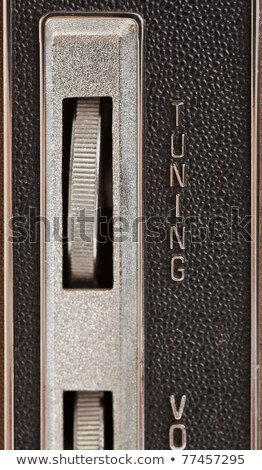 Volume Dial on Old Radio Chrome Lettering  Stock photo © Qingwa