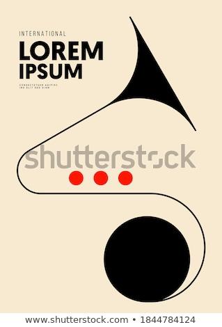 Sárgaréz trombita musical háttér csiszolt hangjegyek Stock fotó © sidewaysdesign