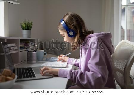 öğrenci · ödev · düşünme · çocuklar · okuma - stok fotoğraf © ivonnewierink