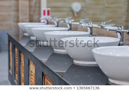 туалет служба туалет раковина отходов корзины Сток-фото © brianguest
