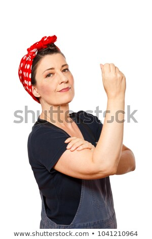 craftswoman clenching fist Stock photo © photography33