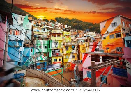 Рио-де-Жанейро Бразилия трущобы праздник бедные нищеты Сток-фото © epstock
