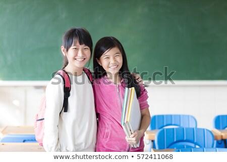 deux · heureux · asian · soeurs · portrait · de · famille · ethniques - photo stock © ampyang