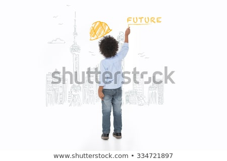 An engineer looking at a child's drawing Stock photo © photography33