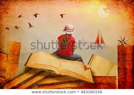 Livros cansado aprendizagem Foto stock © simply