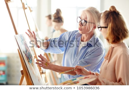 Experienced painter and student Stock photo © photography33