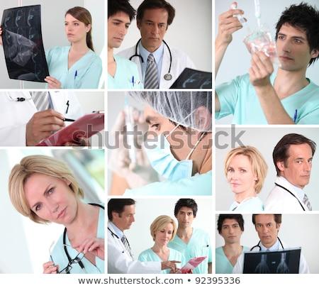 paciente · médico · equipe · água · saúde · hospital - foto stock © photography33