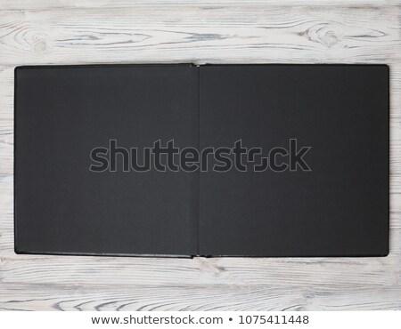 черный альбома элегантный кольца открытых готовый Сток-фото © smithore