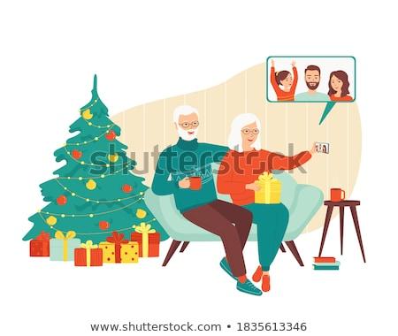 пенсионер праздник счастливым стены лет синий Сток-фото © photography33