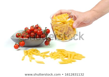 Woman with fresh tomatoes and a jar of pasta Stock photo © photography33