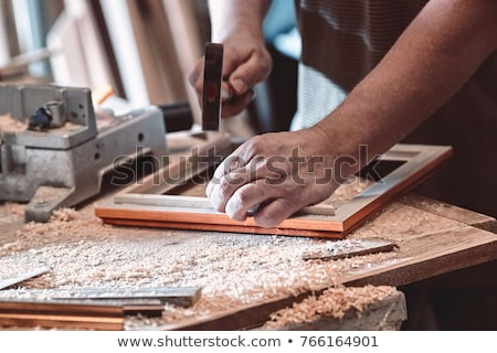 Carpenter making a frame Stock photo © photography33