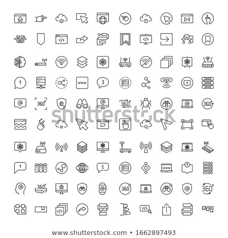 icons and applications set   vector illustrations stock photo © solarseven