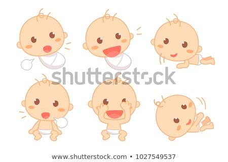 cute · bebé · cara · vector · hermosa · arte - foto stock © indiwarm