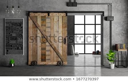 ahşap · ahır · kapı · doku · yukarı · eski - stok fotoğraf © sirylok