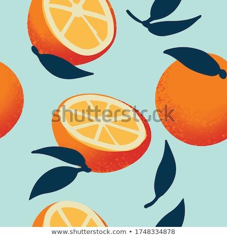 orange slices seamless background stock photo © ozaiachin