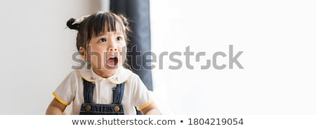 Little toddler girl attitude Stock photo © phakimata