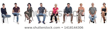 Senior woman sitting with a young man Stock photo © photography33