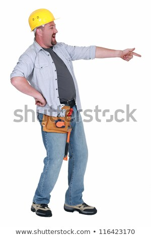 Chubby foreman pointing and laughing Stock photo © photography33