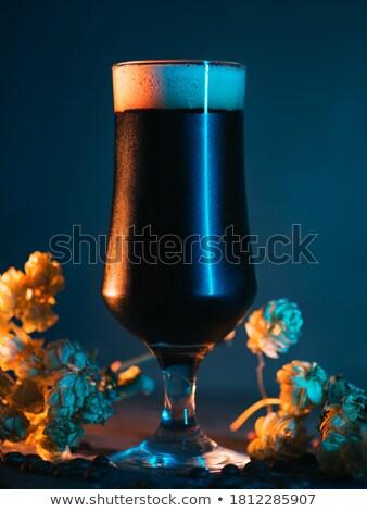 Világos sör aromás komló izolált fehér virág Stock fotó © brulove