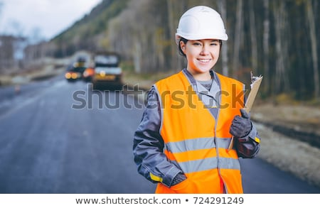 Young construction worker Stock fotó © stevanovicigor