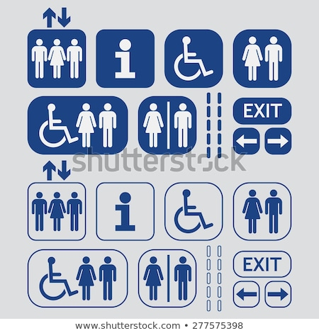 Restroom symbol, gray button Stock photo © Ecelop