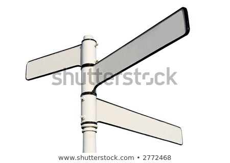 Old fashioned 3 way blank direction signpost. Stock photo © latent
