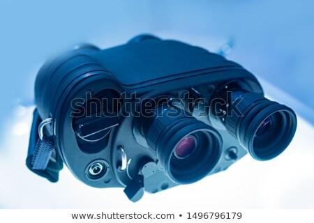 Soldado olhando vista estúdio pistola guerra Foto stock © acidgrey