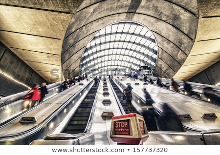 Canary Wharf tube station escalators Stock photo © Harlekino