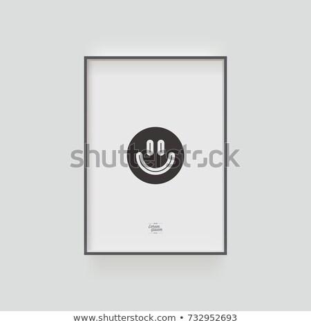 nino · marco · texto · papel · ojo · cara - foto stock © marimorena
