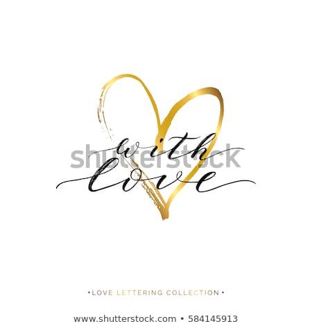 Szeretet kártya szív vektor textúra esküvő Stock fotó © carodi