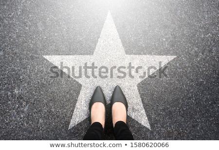 Businesswoman on Top Stock photo © blamb