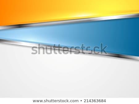 Elegant blue curved metallic background stock photo © MONARX3D