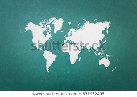 Мир карта зеленый мелом совета мира земле Сток-фото © matteobragaglio