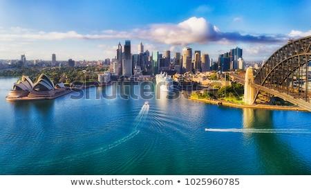 Austrália australiano bandeira Melbourne praia Foto stock © Vividrange