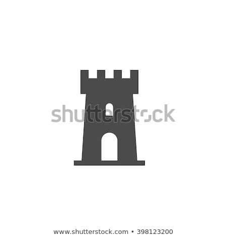 Ikon kule inşaat arka plan Stok fotoğraf © zzve