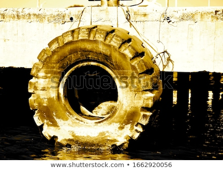 boat in the river, dirty river buoy for a boat Stock photo © nemar974