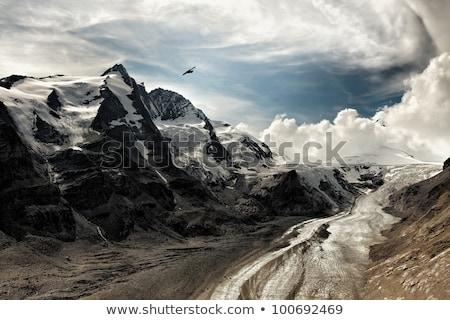 Dramatyczny górskich widok z lotu ptaka niebo słońce sportu Zdjęcia stock © gophoto