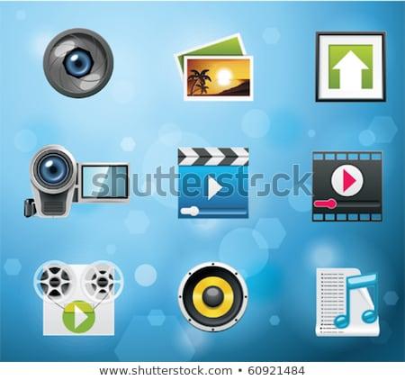 Typische pictogrammen voor mobiele telefoonapps en services Stockfoto © tele52