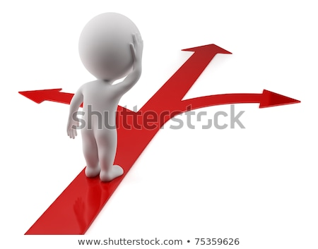 3d small people   choice of direction stock photo © anatolym