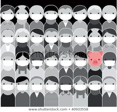 Sertés influenza h1n1 vakcina metafora játék Stock fotó © lunamarina